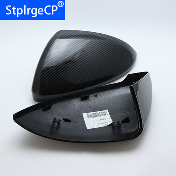 for Volkswagen VW Lamando golf 7 MK7 GTI GTD 2014-2018 car styling Replacement Side Wing Mirror Covers Caps (Carbon Pattern)