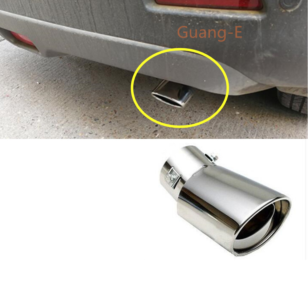 For Suzuki Vitara 2016 2017 2018 2019 Styling Cover Muffler Exterior End Pipe Outlet Dedicate Stainless Steel Exhaust Tip Tail