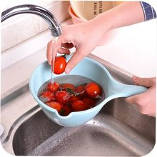 1PC Plastic Beech Long Handle Rice Scoop Spoon Wooden Kitchenware Large Wooden Bailer Water Spoon(China)
