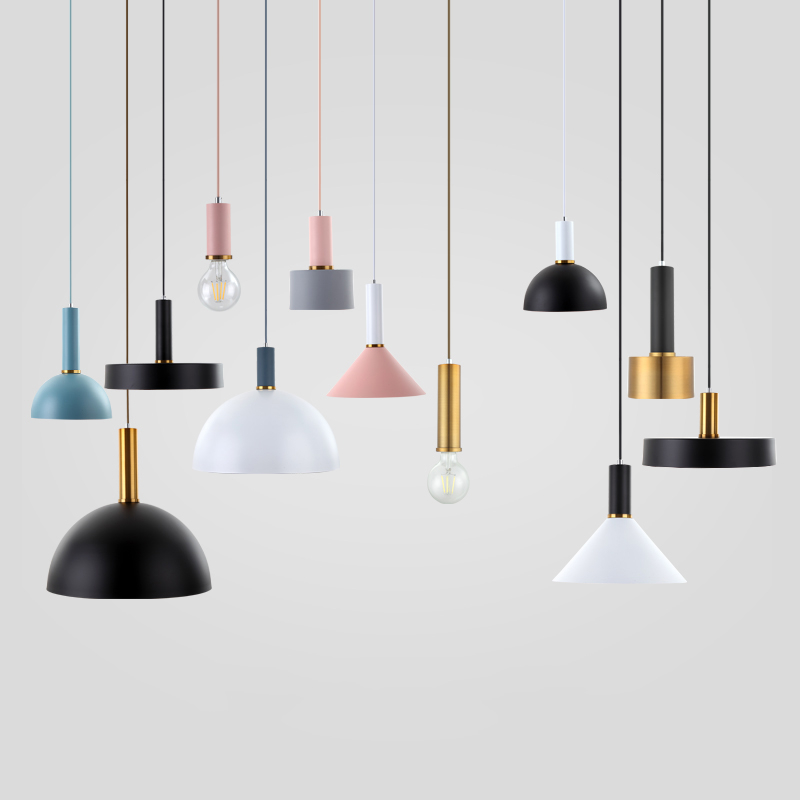 Restaurant A Chandelier Modern Concise Macaroon Loft Table Industry Wind Bar Counter Bedroom Bedside Small A Chandelier Have