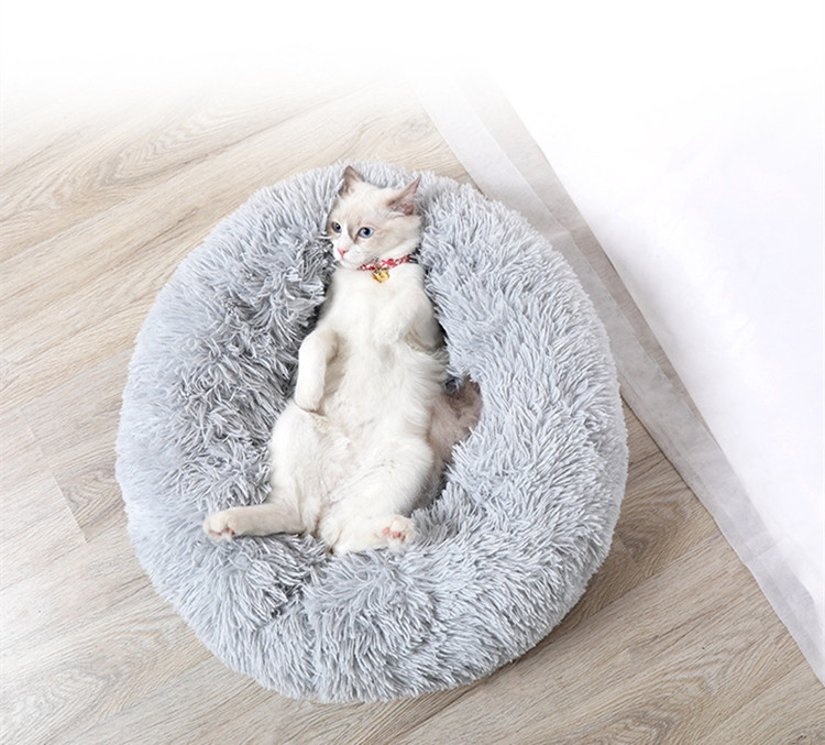 Round and Soft Pet Bed for Dogs and Cats with Anti Slip Bottom Design for Comfortable Sleep of Pets Washable by Machine or Hand 11