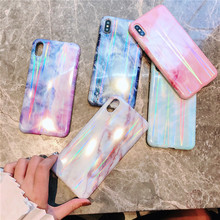 Mobile phone colorful Marble stone cover fundas For Apple iPhone X XR XS MAX 6 7 plus 6s 8 plus phone cases beauty emily wine red lace party prom dresses 2019 short for women a line half sleeve formal party prom homecoming dresses