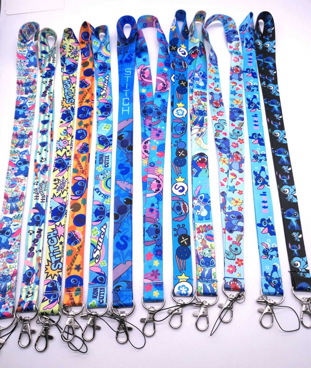 lot cartoon stitchmix Straps Lanyard ID Badge Holders Mobile Neck Key chain