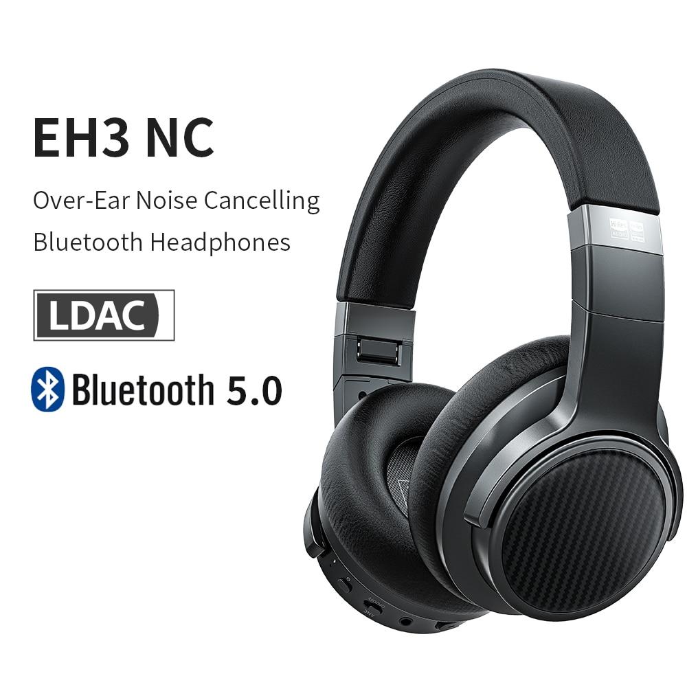 Fiio eh3nc cancelamento de ruído bluetooth 5.0 sobre a orelha hi-fi fones de ouvido graves profundos com aptx ll/aptx hd/ldac/mic suporte, 50 h play