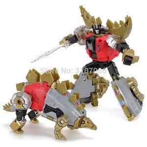 Image 5 - G1 bpf 変換 dinoking volcanicus ボックス男児スラグ汚泥うなり声急襲スラッシュ dinobots 5IN1 アクションフィギュアロボットのおもちゃ