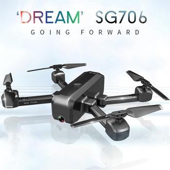 цена 2019 NEW SG706 WiFi Foldable RC Drone 1080P HD Dual Camera Optical flow Smart Follow RC Helicopter Aircraft Remote Control Toys онлайн в 2017 году