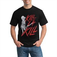 Kill la kill branco menina está ninho para cortado imagem do logotipo vermelho anime t camisa de tamanho grande anime tshirt