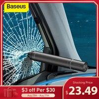 Baseus Auto Fenster Glas Breaker Mit Taschenlampe Für Auto Sitz Gürtel Cutter Legierung Auto Sicherheit Hammer Notfall Kit Werkzeug Zubehör