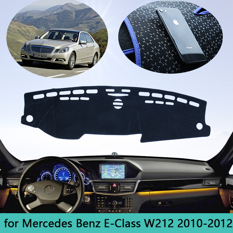 For Mercedes Benz E-Class W212 Dashboard Mat Cover Sunshade Dashmat Carpet Car Accessories E-Klasse E200 E250 E300 <font><b>E220d</b></font> AMG image
