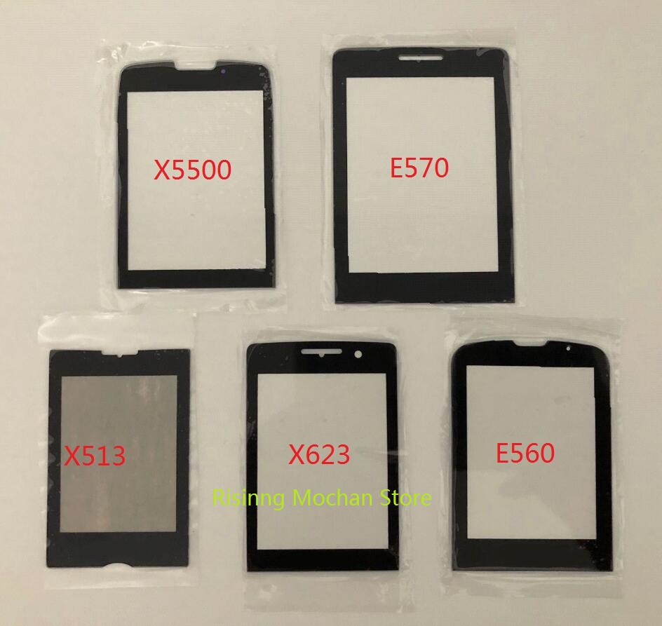 For <font><b>Philips</b></font> Xenium X5500 <font><b>E560</b></font> X623 X513 E570 E571 Front Panel note Touch Screen Mobile Phone glass lens display Replacement New image
