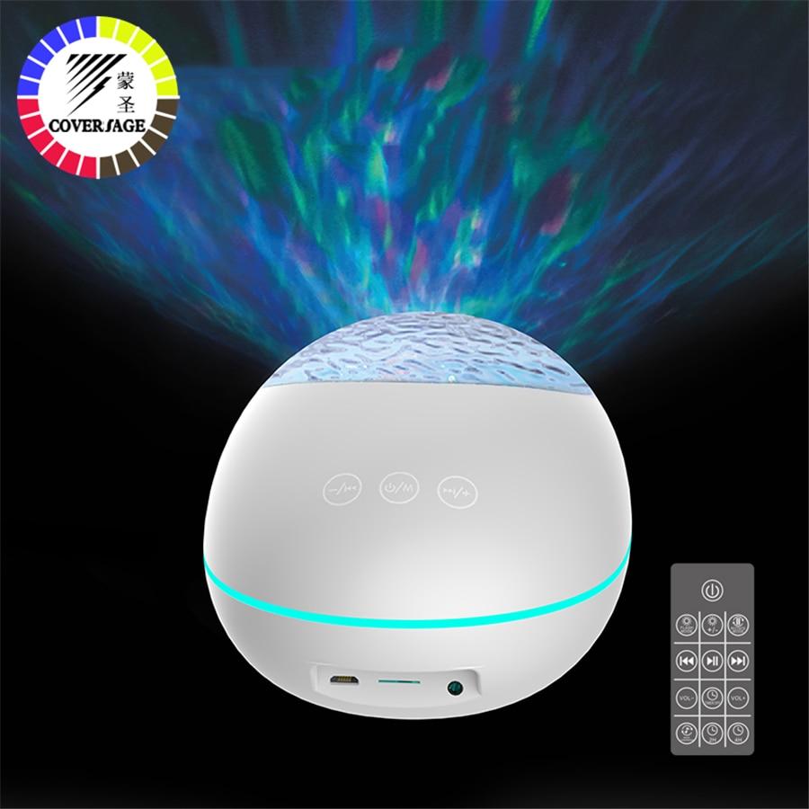 coversage bluetooth oceano onda projetor led night light com usb controle remoto leitor de musica alto