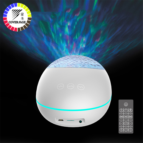 coversage bluetooth oceano onda projetor led night light com usb controle remoto leitor de musica