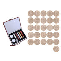 26 Letters Alphabets Metal Sealing Wax Stamps Set 25mm Stamps Wax Seals Delicate Stamps Craft with Gift Box