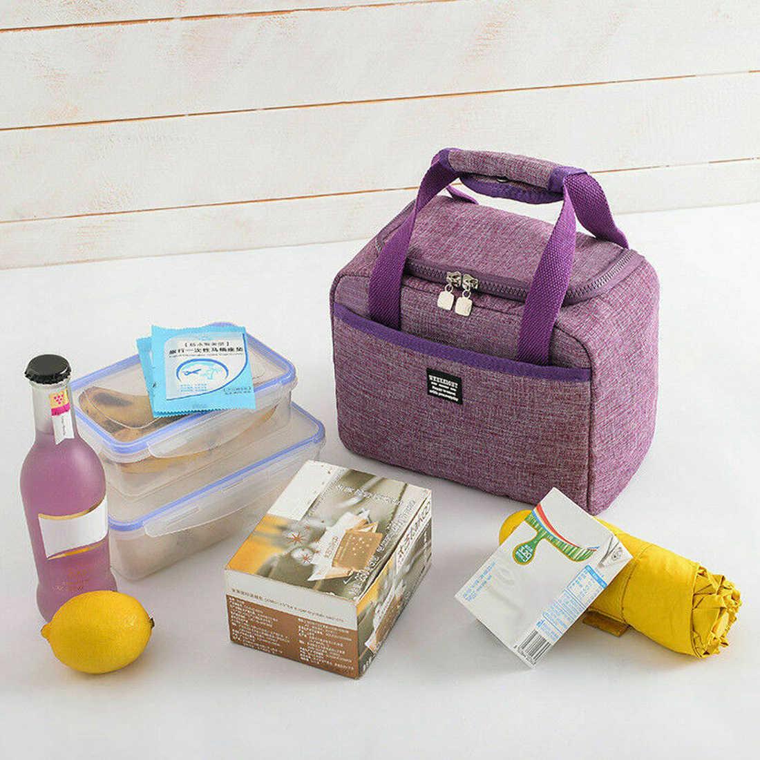 DIHOPE taşınabilir öğle yemeği çantası yeni ısı yalıtımlı kutu Tote soğutucu çanta Bento kılıfı yemeği konteyner okul gıda depolama