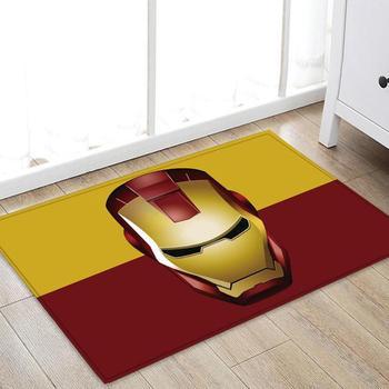 Drop Shipping Marvel The Avengers Plush Carpet Iron Man Captain America Spider man Rug Mat Cotton