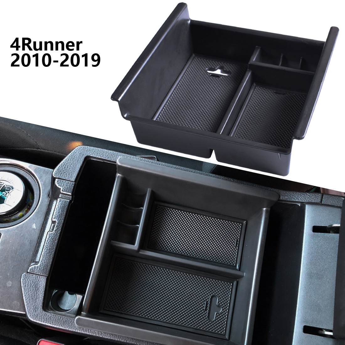 Car Armrest Storage Glove Box Center Console Tray fit for Toyota 4RUNNER