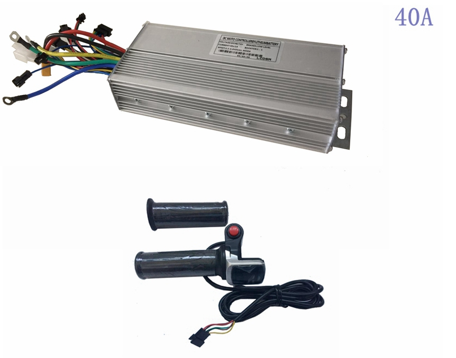 48V/72V 1500W-<font><b>2000W</b></font> 35A 40A 45A <font><b>Brushless</b></font> <font><b>DC</b></font> <font><b>Motor</b></font> sine wave double mode Controller+6 cores twist throttle 36V or 48V image