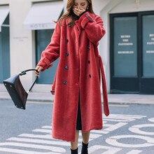 Coat Winter Women Real Fur Coat Female Sheep Shearling Jacke