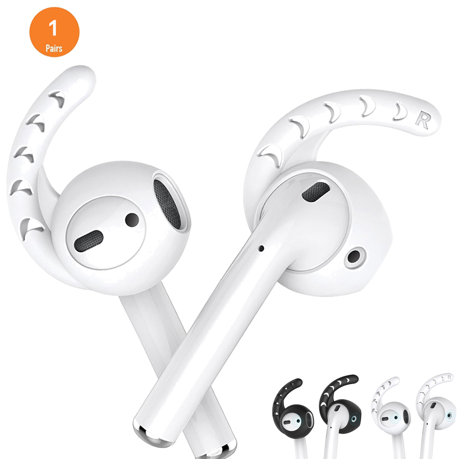 For <font><b>Airpods</b></font> 1 2 Silicone In-<font><b>ear</b></font> Earbuds Cover With Hook for <font><b>Airpods</b></font> Accessories for Earpods <font><b>Ear</b></font> <font><b>Tips</b></font> image