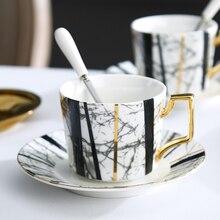 Ceramic coffee cup saucer home water mugs high-grade bone china tea cups set coffee cup saucer ceramic mug to sent spoon klimt classic kiss design coffee cup and tea saucer ceramic
