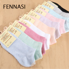 цена FENNASI  Candy Colors Women Ankle Socks Funny Cute Solid Color Plush Boat Socks Womens Lady Girl Art Sock Short Sox