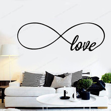 цена на Love Infinity Wall Decal  Love home Bedroom Wall sticker removable wall art mural JH89