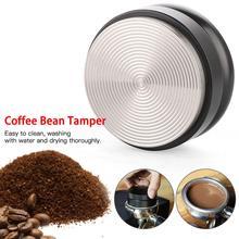 1pcs Stainless Steel Powder Coffee Tamper 58MM Coffee Distributor Coffee Powder Hammer  Three Angled Slopes Coffee Accessories недорого
