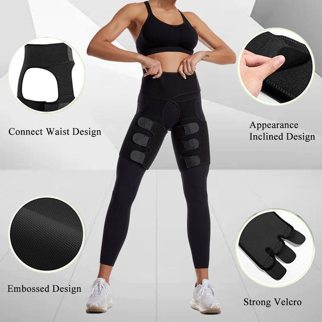 Woman And Man Unisex Trimmer Leg Shapers Slender Slimming Belt Neoprene Sweat Shapewear Muscles Band Thigh Slimmer Wrap 5