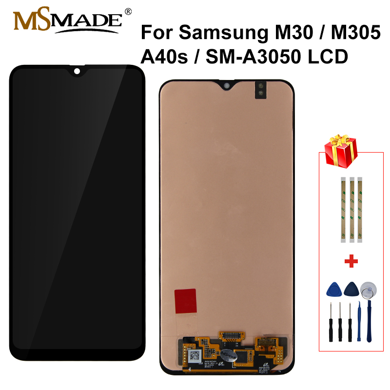Original For <font><b>Samsung</b></font> Galaxy M30 M305 <font><b>A40S</b></font> SM-A3050 <font><b>LCD</b></font> Display Touch Screen Digitizer Replacement Parts For <font><b>Samsung</b></font> <font><b>A40S</b></font> <font><b>LCD</b></font> image