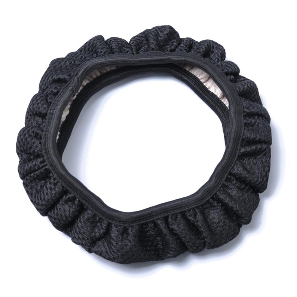 None 38cm Diameter Ice Silk Fabric None Aprons Steering Wheel Sleeve Black Cover