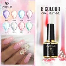 SAVILAND Opal Jelly Gel 10ml Long Lasting UV Lacquer Nail PolishHard Art  Polish Varnish