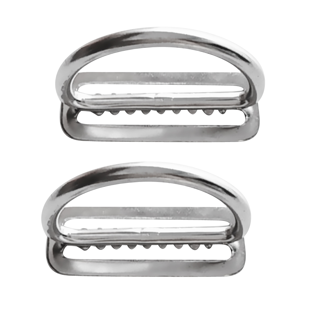 2Pcs Stainless Steel Weight Belt Keeper Stopper D Ring For Scuba Diving Dive