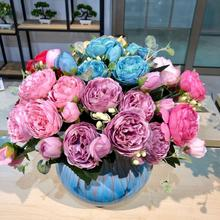 цена на Artificial Peony Flower Branch Wedding Event  peony flower branch silk flower fake flower branch