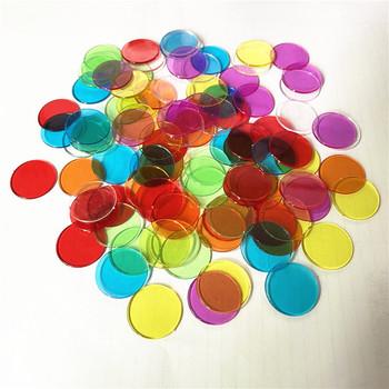 100 sztuk 19mm Count Bingo Chips markery dla gra Bingo karty plastikowe dla dzieci w klasie i karnawał gra Bingo s tanie i dobre opinie 112104