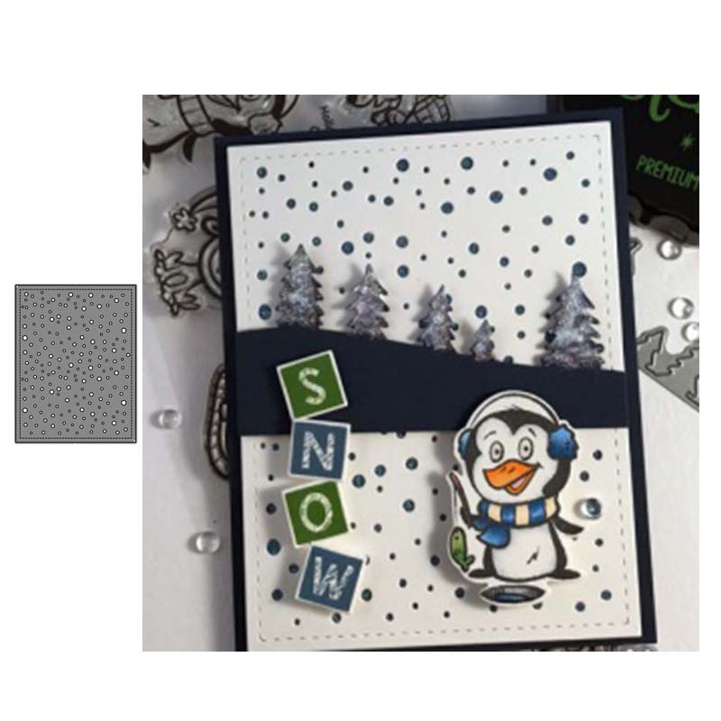 Metal Cutting Dies Snowfall Panel Cut Die Mold Decoration Scrapbook Paper Craft Knife Mould Blade Punch Stencils