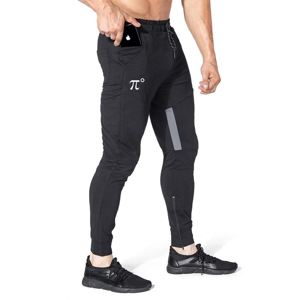 Pidogym Hombres Gimnasio Pantalones Para Trotar Informales Slim Culturismo Conicos Pantalones Con Bolsillos Con Cremallera Para La Formacion De Entrenamiento Para Correr Pantalones Deportivos Aliexpress