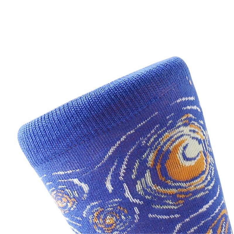 Image 5 - MYORED 5 pair/lot Men's Painting socks cotton Retro Oil Painting socks crew funny sock casual dress colorful wedding gift NO BOX-in Men's Socks from Underwear & Sleepwears