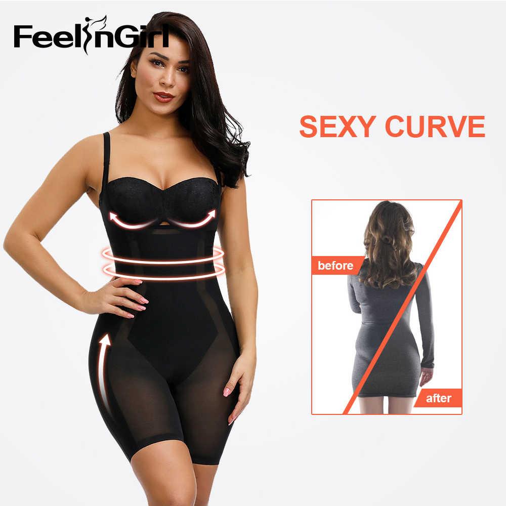 FeelinGirl Women/'s Shapewear Underwear Waist Butt Lifter Open Bust Shaper Firm C