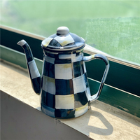 Caneca de leite esmalte bule pithers café pote