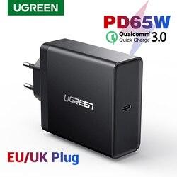 Ugreen PD 65 Вт Зарядное устройство USB type C зарядное устройство для Apple MacBook воздушный ipad pro samsung ASUS acer зарядное устройство для планшета для nintendo Switch