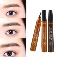 4 Head Makeup Eyebrow Enhancers 5 Colors High-end Automatic Matte Pencil tint Waterproof Tattoo Pen Long-lasting