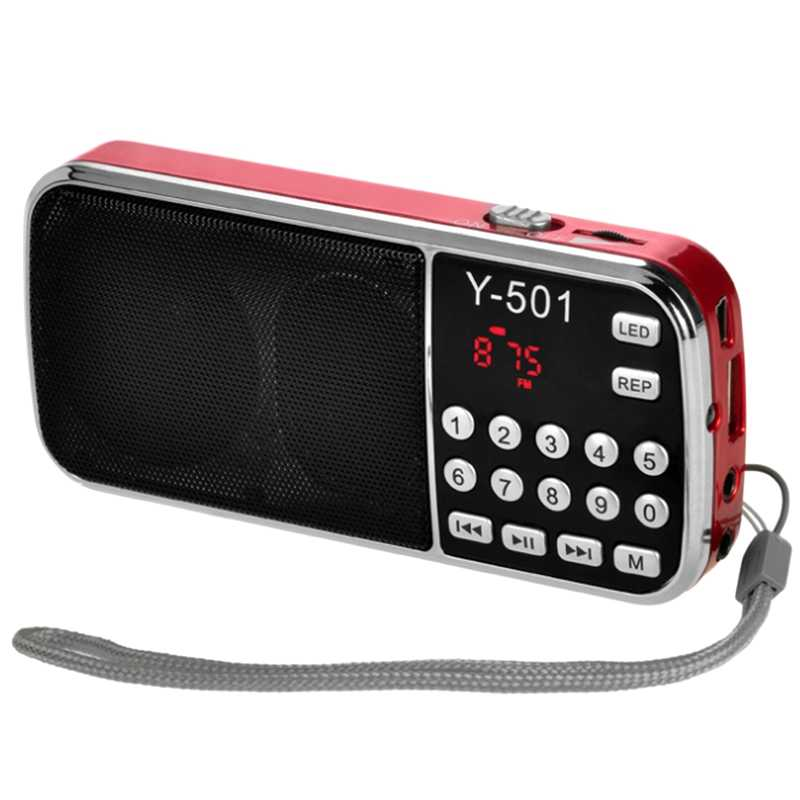 Y-501 Digitale Draagbare O Lcd Digitale Fm Radio Speaker Usb Mp3 Muziekspeler