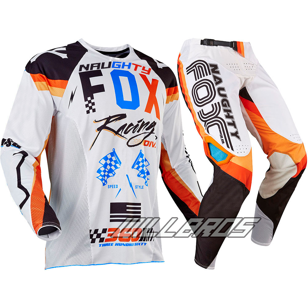 Motorbike MX 360 Rohr Jersey & Pant Combo Racing Motocross Gear Set ATV Dirt Bike Off Road White Suit