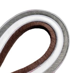 Image 2 - 10 מטרים עצמי דבק איטום רוח הוכחה מברשת רצועת עבור בית דלת חלון בידוד קול רצועת אטם
