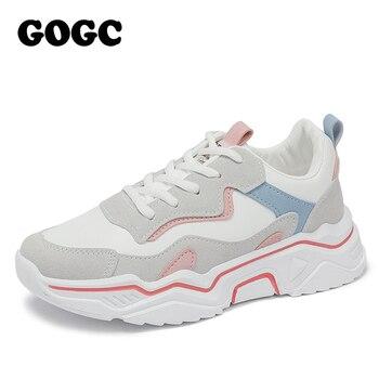 GOGC 2020 kobiet buty wiosna obuwie damskie platformy damskie trampki chunky sneakers buty na co dzień kobiety butów kobiet Snekaers G6802
