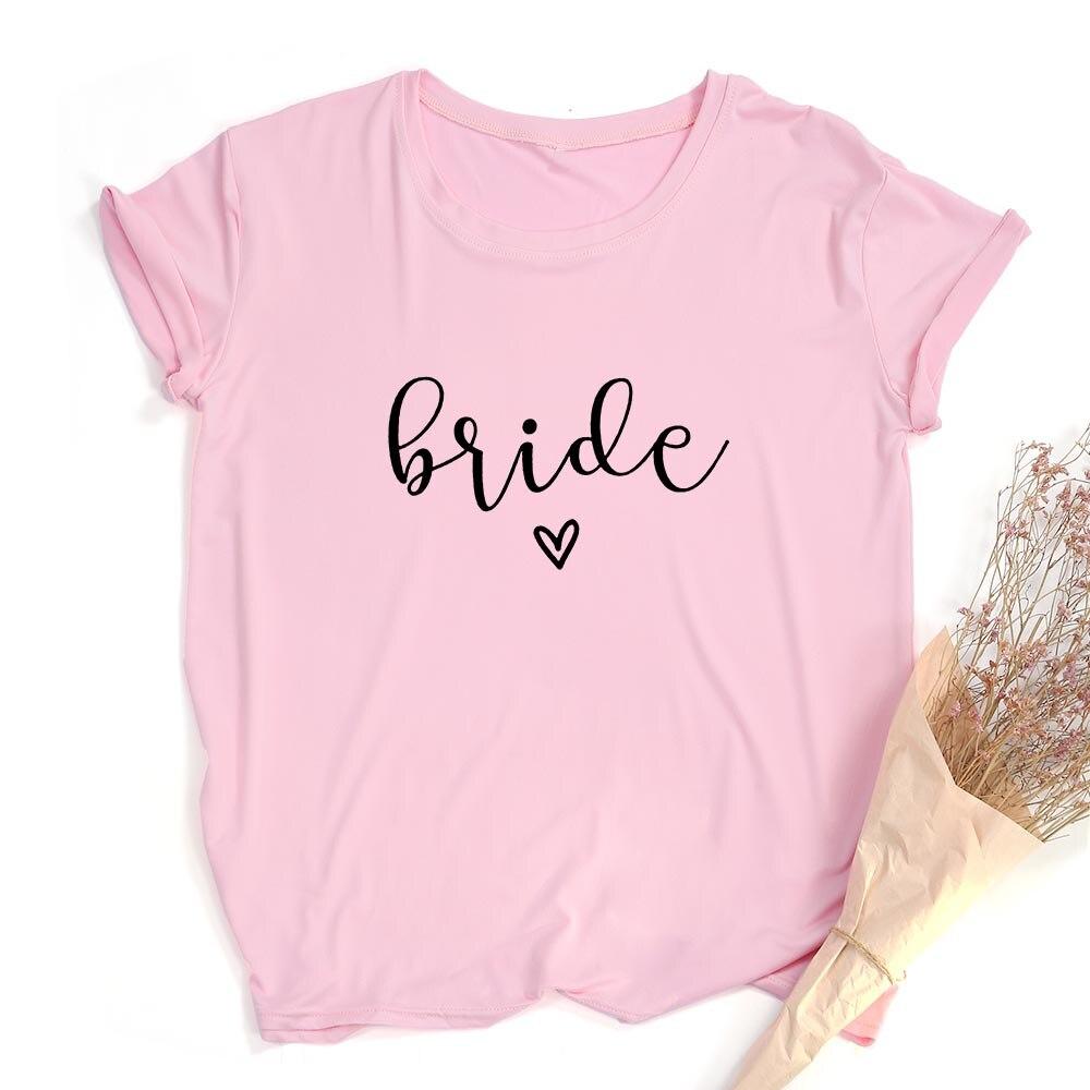 Team Bride Print Women Short Sleeve T Shirts Bachelorette Wedding Party Graphic T-shirt Harajuku Tshirt Female Tees Tops Hipster 6