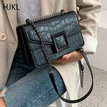 Lady Crossbody Bags PU Leather Stone Pattern for Women 2019 Small Shoulder Messenger Bag Female Luxury Chain Handbags and Purses fashion cow pattern clip women handbags designer brand lady crossbody bags luxury pu female shoulder messenger bag small purses