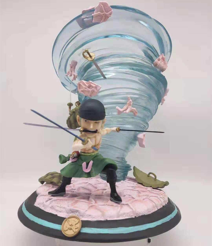 """7/""""Anime One Piece BJD Roronoa Zoro PVC Moveable Action Figure No Box"""