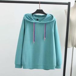 Модные милые женские повседневные однотонные толстовки с капюшоном, 5 цветов, осенние женские пуловеры с длинным рукавом размера плюс, толс...