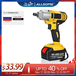 Image 1 - ALLSOME 98VF 320Nm 12000mAh Cordless Electric Impact Wrench Drill Screwdriver 110 240V